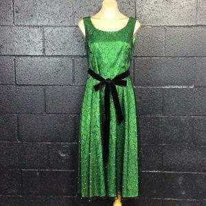 EUC Green Coldwater Creek Dress